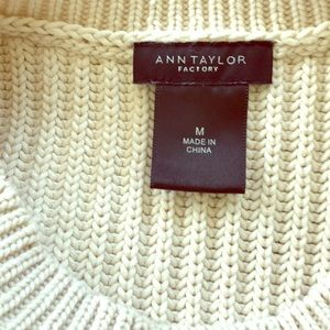 Ann Taylor Factory Tops - Ann Taylor Factory ivory knitted top tank